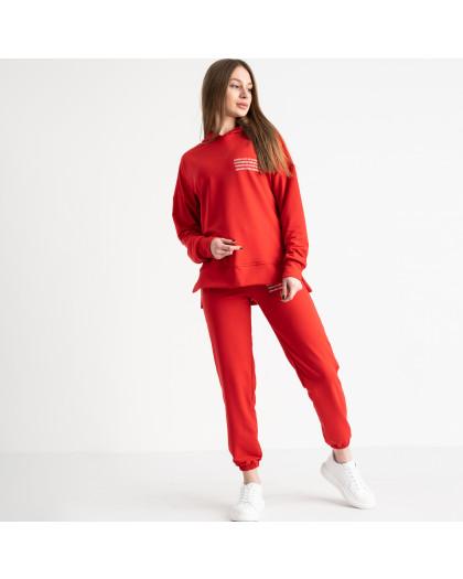 15115-9 красный спортивный костюм женский из двунитки (4 ед. размеры: S.M.L.XL) Спортивный костюм