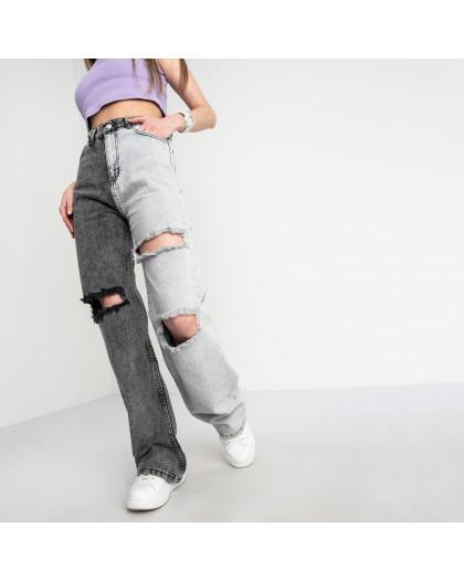 0844-6 Ponza джинсы женские двухцветные темно-серый с светло-серым котоновые (6 ед. размеры:34.36/2.38/2.40) Ponza