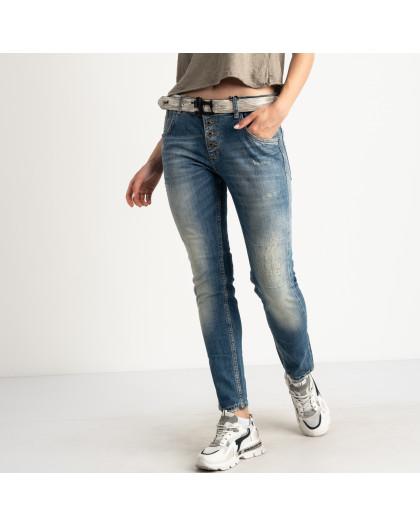 5481 Whats Up 90s джинсы полубатальные голубые стрейчевые (7 ед. размеры: 29.30.31.32/2.33.34) Whats up 90s