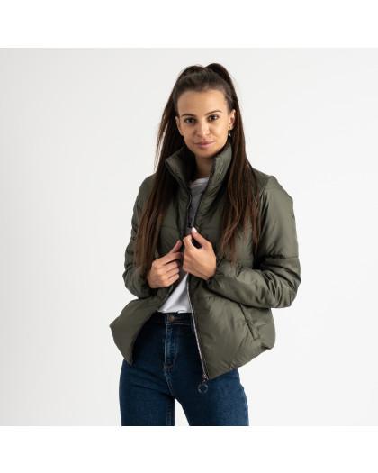 0410-4 хаки куртка женская на синтепоне ( 3 ед. размеры : 42.44.46)  Куртка