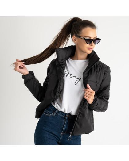0410-1 черная куртка женская на синтепоне ( 3 ед. размеры : 42.44.46)  Куртка