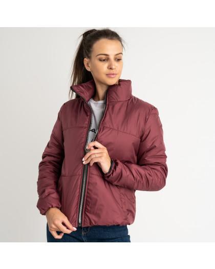 0410-5 бордовая куртка женская на синтепоне ( 3 ед. размеры : 42.44.46) Куртка