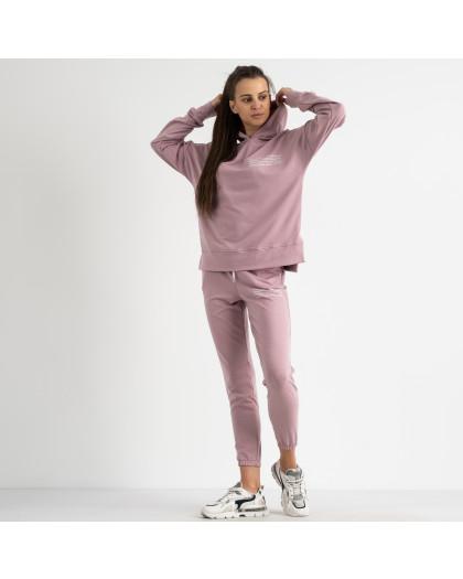 15115-31 Mishely розовый женский спортивный костюм из двунитки (4 ед. размеры: S.M.L.XL) Mishely