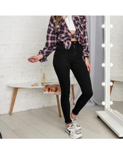 5065 New Jeans американка черная стрейчевая (6 ед. размеры: 25.26.27.28.29.30) New Jeans