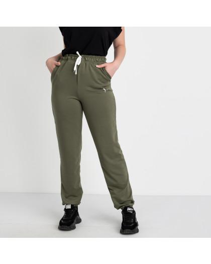 14870-10 Mishely хаки брюки женские спортивные батальные стрейчевые (4 ед. размеры: 50.52.54.56) Mishely