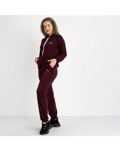 15120-4 Mishely бордовый спортивный костюм батальный из двунитки  (4 ед. размеры: 50.52.54.56) Mishely