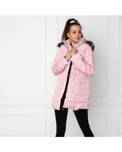 0807-21 куртка женская розовая на синтепоне (3 ед. размеры:L.XL.2XL) Куртка