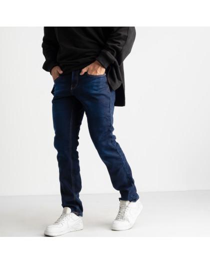 2125 Dsouaviet синие джинсы на флисе мужские стрейчевые  (8 ед. размеры: 29.30.31.32.33.34.36.38) Dsouaviet
