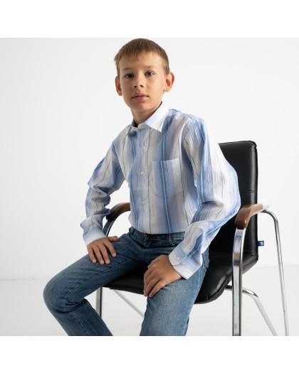 1902 Boston Public голубая рубашка в полоску на мальчика 7-15 лет (5 ед. размеры: 30/31.32/33.33/34.34/35.35/36) Boston Public