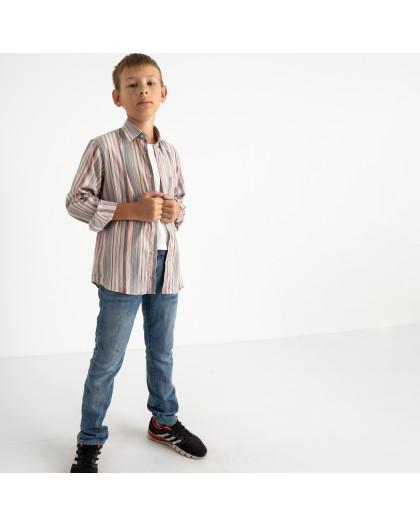 1904-01 Boston Public серая рубашка в полоску на мальчика 7-15 лет (4 ед. размеры: 30/31.32/33.34/35.35/36) Boston Public