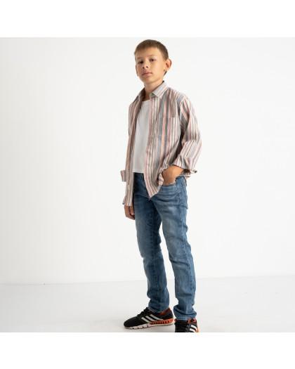 1904 Boston Public серая рубашка в полоску на мальчика 7-15 лет (5 ед. размеры: 30/31.32/33.33/34.34/35.35/36) Boston Public