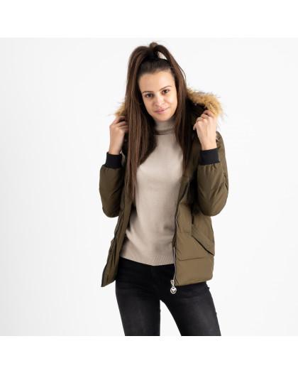 6937-4 куртка хаки женская на синтепоне (6 ед. размеры: M.L.2XL/2.3XL.4XL) Куртка