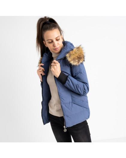 6937-2 куртка голубая женская на синтепоне (6 ед. размеры: M.L.2XL/2.3XL.4XL) Куртка