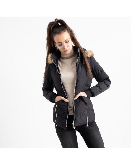 6936-1 куртка черная женская на синтепоне (6 ед. размеры: M.L.2XL/2.3XL.4XL) Куртка