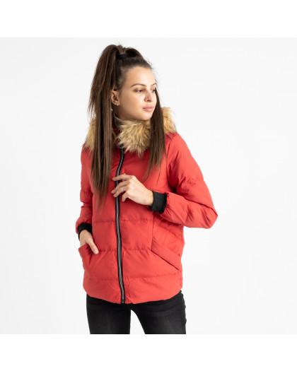 6937-3 куртка красная женская на синтепоне (6 ед. размеры: M.L.2XL/2.3XL.4XL) Куртка