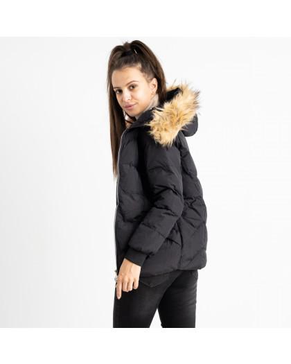 6937-1 куртка черная женская на синтепоне (6 ед. размеры: M.L.2XL/2.3XL.4XL) Куртка