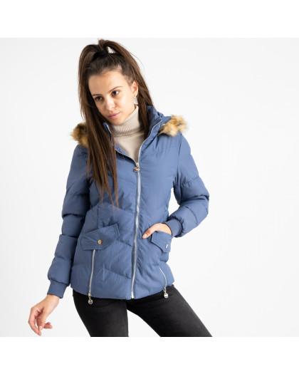 6936-2 куртка голубая женская на синтепоне (6 ед. размеры: M.L.2XL/2.3XL.4XL) Куртка