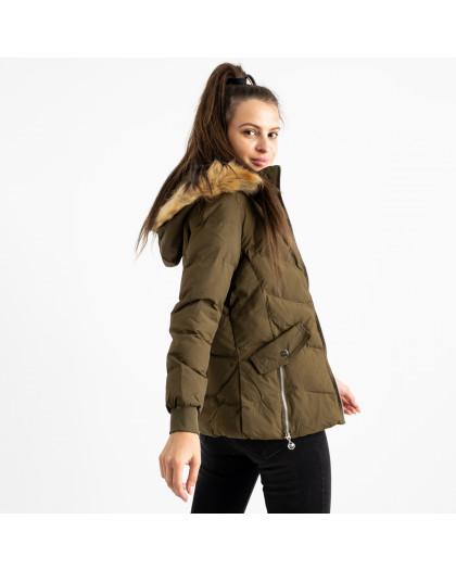 6936-4 куртка хаки женская на синтепоне (6 ед. размеры: M.L.2XL/2.3XL.4XL) Куртка