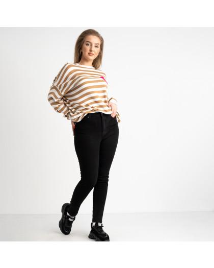 0831-6 A Relucky джинсы женские черные полубатальные стрейчевые на байке (6 ед. размеры: 28.29.30.31.32.33) Relucky