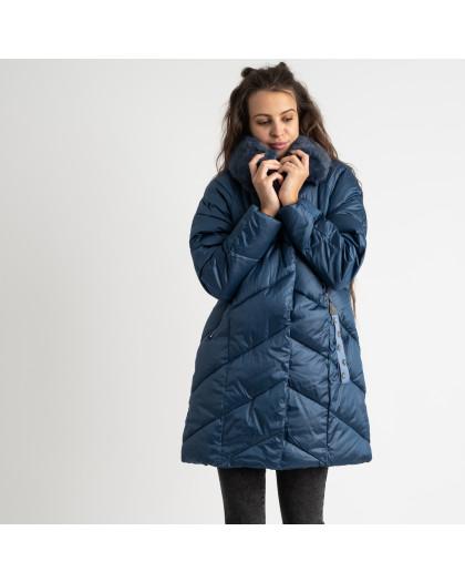 8801-1 синяя куртка женская на синтепоне (4 ед.размеры: M.L.XL.XXL) Куртка