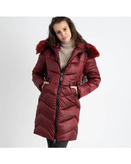 1985-4 L.Y.Xuege бордовая куртка женская на синтепоне (5 ед.размеры: M.L.XL.XXL.3XL) Куртка