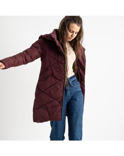 1919-3 Hongyifei бордовая куртка женская на синтепоне (4 ед.размеры: M.L.XL.XXL) Куртка