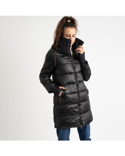 8802-1 черная куртка женская на синтепоне (4 ед.размеры: M.L.XL.XXL) Куртка