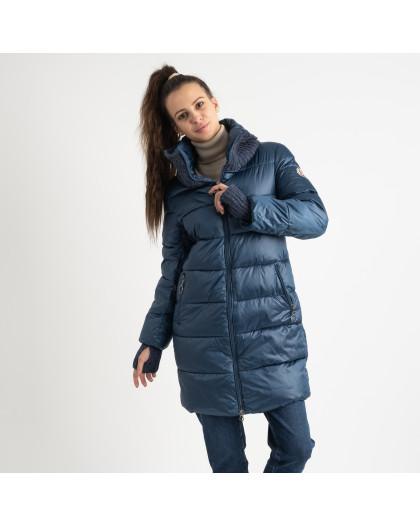 8802-2 голубая куртка женская на синтепоне (4 ед.размеры: M.L.XL.XXL) Куртка