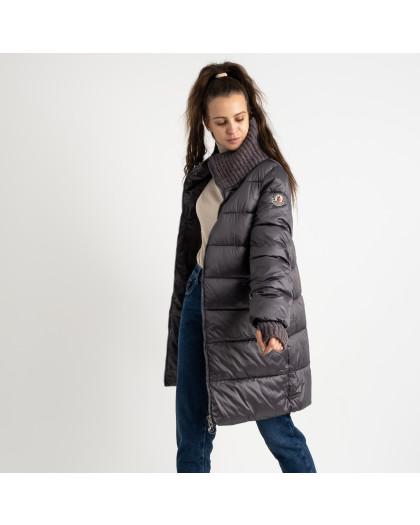 8802-4 серая куртка женская на синтепоне (4 ед.размеры: M.L.XL.XXL) Куртка