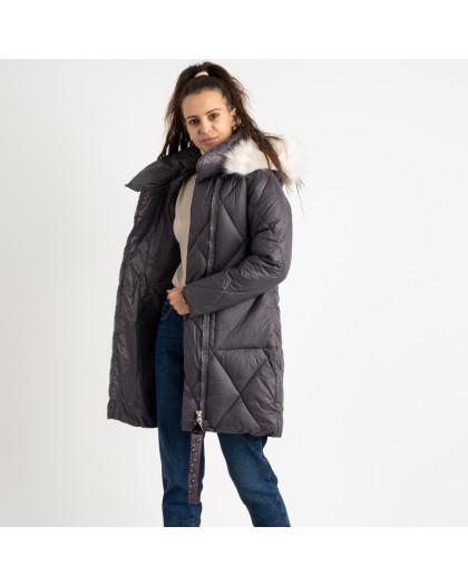 0833-1 Annagella серая куртка женская на синтепоне (4 ед.размеры: M.L.XL.XXL) Куртка