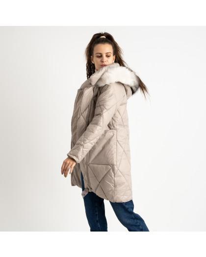 0833-2 Annagella бежевая куртка женская на синтепоне (4 ед.размеры: M.L.XL.XXL) Куртка