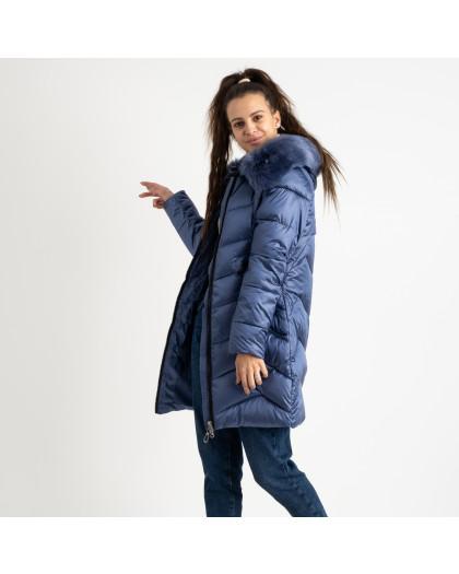 1985-3 L.Y.Xuege голубая куртка женская на синтепоне (5 ед.размеры: M.L.XL.XXL.3XL) Куртка