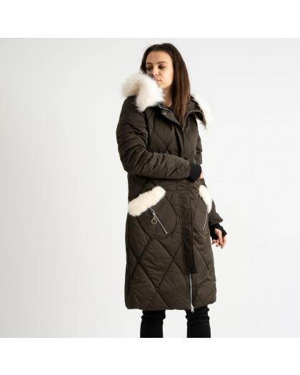 9915-4 хаки куртка женская на синтепоне (4 ед.размеры: M.L.XL.XXL) Куртка