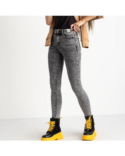 6050 New Jeans американка на флисе серая стрейчевая (6 ед.размеры: 25.26.27.28.29.30) New Jeans