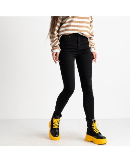 6030 New Jeans американка на флисе черная стрейчевая (6 ед.размеры: 25.26.27.28.29.30) New Jeans