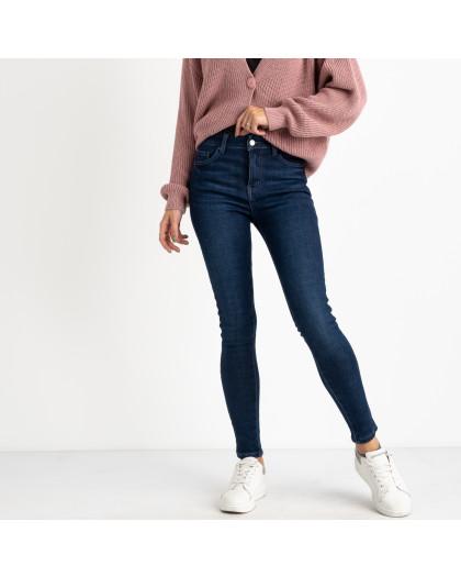 6020 New Jeans американка на флисе синяя стрейчевая (6 ед.размеры: 25.26.27.28.29.30) New Jeans