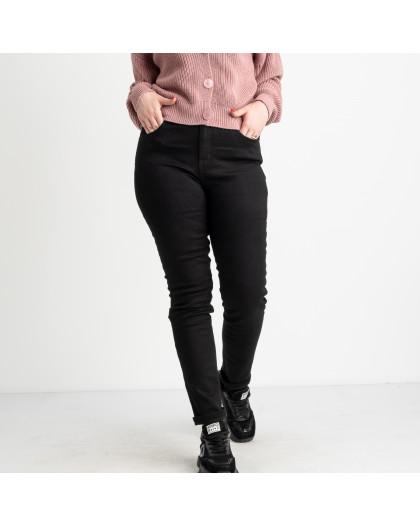 6037 New Jeans американка на флисе батальная черная стрейчевая (6 ед.размеры: 31.32.33.34.35.36) New Jeans