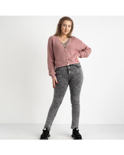 6047 New Jeans американка на флисе батальная серая стрейчевая (6 ед.размеры: 31.32.33.34.35.36) New Jeans