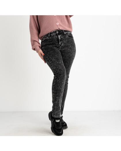 6025 New Jeans американка на флисе батальная серая стрейчевая (6 ед.размеры: 31.32.33.34.35.36) New Jeans