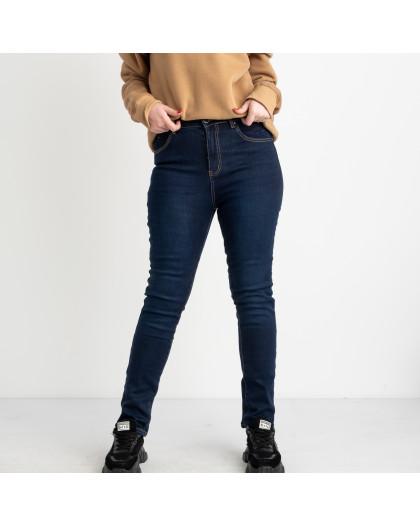 6042 New Jeans американка  на флисе батальная синяя стрейчевая (6 ед.размеры: 31.32.33.34.35.36) New Jeans
