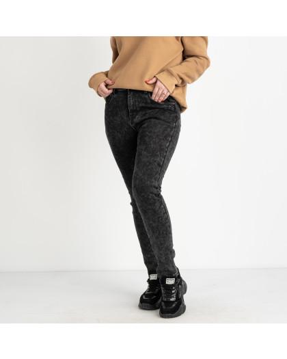 6026 New Jeans американка на флисе полубатальная серая стрейчевая (6 ед.размеры: 28.29.30.31.32.33) New Jeans