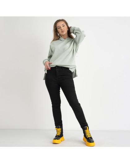 6032 New Jeans американка черная полубатальная стрейчевая на байке (6 ед.размеры: 28.29.30.31.32.33) New Jeans