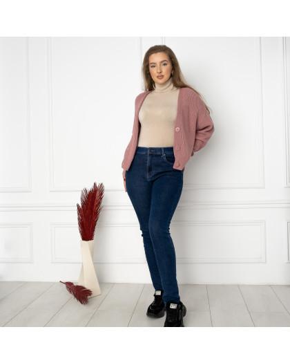6022 New Jeans американка на флисе батальная синяя стрейчевая (6 ед.размеры: 31.32.33.34.35.36) New Jeans