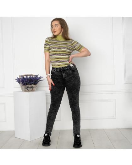 6029 New Jeans американка на флисе батальная серая стрейчевая (6 ед.размеры: 31.32.33.34.35.36) New Jeans