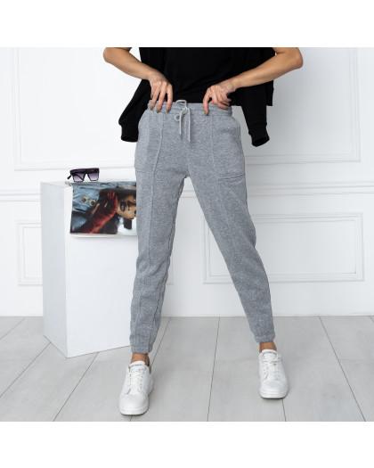 0011-6 серые спортивные штаны женские на флисе (6 ед.размеры: S.M.L.XL.XXL.3XL) Спортивные штаны