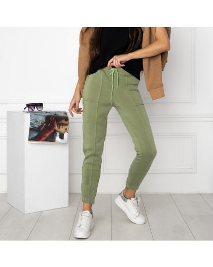 0011-4 хаки спортивные штаны женские на флисе (6 ед.размеры: S.M.L.XL.XXL.3XL) Спортивные штаны
