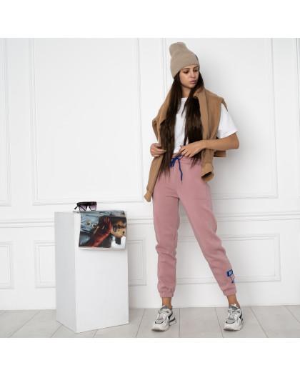 0010-2 розовые спортивные штаны женские на флисе (6 ед.размеры: S.M.L.XL.XXL.3XL) Спортивные штаны