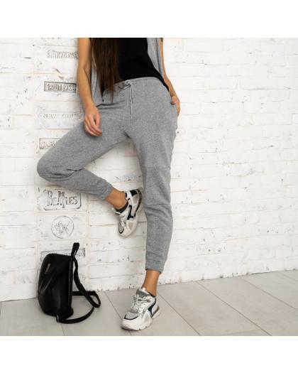 0012-6 серые спортивные штаны женские на флисе (6 ед.размеры: S.M.L.XL.XXL.3XL) Спортивные штаны