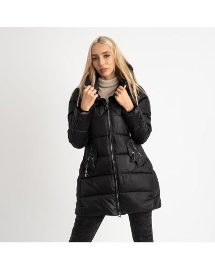 1906-1 черная куртка женская на синтепоне (4 ед. размеры: M.L.XL.2XL) Куртка