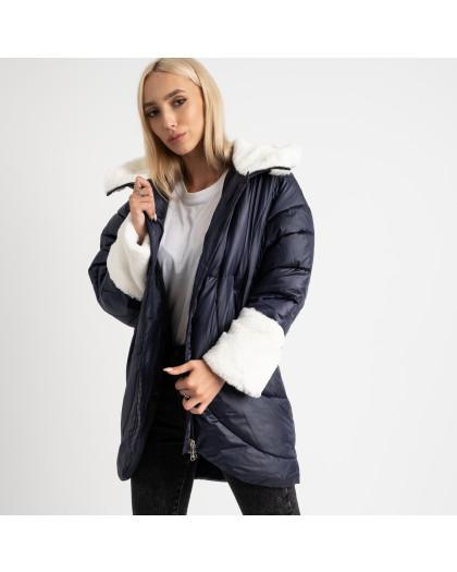 8930-2 синяя куртка женская на синтепоне (4 ед. размеры: M.L.XL.2XL) Куртка